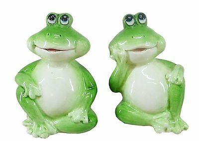 Green Frog Ceramic Salt & Pepper Shakers