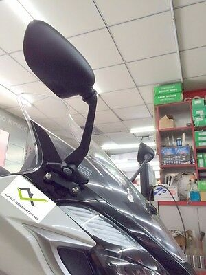 KYMCO DOWNTOWN 350i (4 STYLES)  FRONT SQUARE MIRRORS (with DRILL.TOOL)