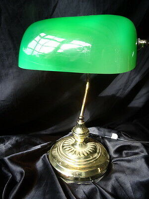 Art Deco Style Reproduction Bankers Office Desk Lamp