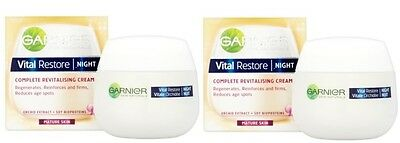 Garnier Vital Restore Night Cream Complete Revitalising  50ml Pack of 2