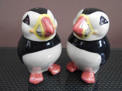 Puffin Salt and Pepper Pots Puffin Cruet Set Supplied Gift Boxed