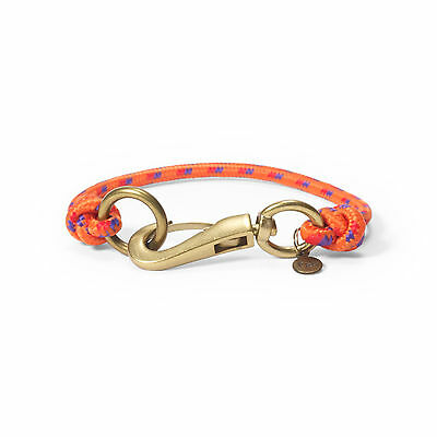 NWT Mens Polo Ralph Lauren Nylon Wrist Strap Bracelet Orange Multi Lobster Clasp