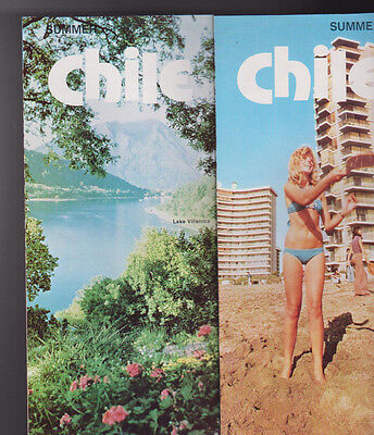 Summer Chile Brochure 1970s Vina del Mar Lake Villarrica