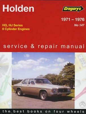 Holden HQ-Hj 8cyl (1971-76) Hardcover Book Free Shipping!