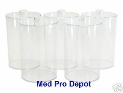 UNBREAKABLE Clear Plastic SUNDRY JAR SET of 5 With Lids