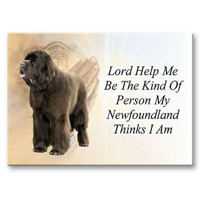 NEWFOUNDLAND Lord Help Me Be FRIDGE MAGNET No 1 Brown