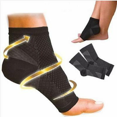 2x Foot Ankle Compression Sleeve Varicose Support Socks Anti fatigue Swelling JJ