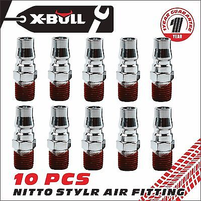 X-BULL 10 Pcs Air Fitting Nitto Style Male Coupler  Air Compressor Hose Fittings