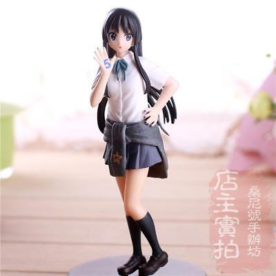 18cm Anime K-ON!5th Anniversary Akiyama Mio PVC Figure toy New in box
