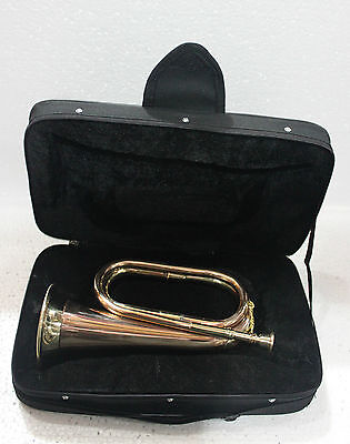 Brasss Polished Military Bugle For Sale With Free Hard Case + Mouth Piece + Ship