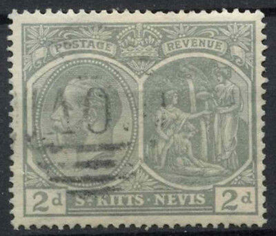 St. Kitts Nevis 1921-9 SG#41, 2d Slate Grey KGV Used #D24105