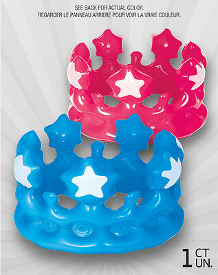 New Inflatable Crown Kids Party Favors Pool Toys Fancy Dress Accessory