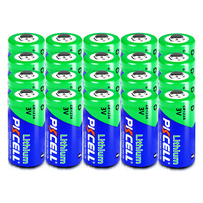 (Pack of 20) CR123 CR123A CR17345  K123 16340 3V Lithium Camera Photo Batteries