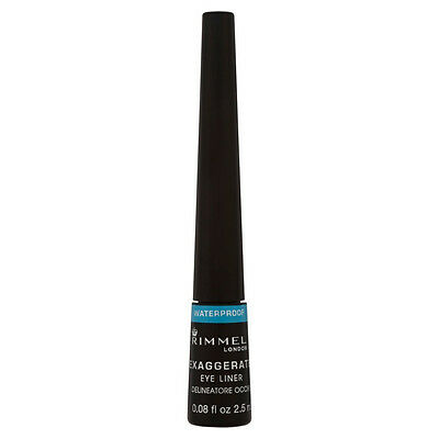 Rimmel Exaggerate Waterproof Liquid Eye Liner Black - SAME DAY DISPATCH