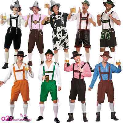 Mens Oktoberfest Bavarian German Beer Festival Lederhosen Fancy Dress Costume