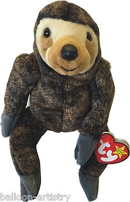 Ty Beanie Baby Slowpoke the Sloth Retired DOB May 20th 1999 soft toy