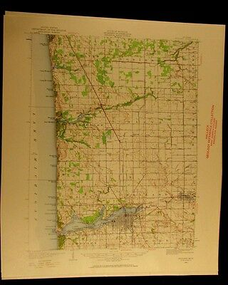 Holland Michigan 1959 vintage USGS Topographical chart map