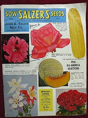 Seed Catalog John A Salzer Seed Co LaCrosse Wisconsin 1955 Veg/Fruit/Flowers Etc