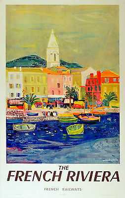Home Wall Art Print - Vintage Travel Retro Poster - FRENCH RIVIERA - A4,A3,A2,A1