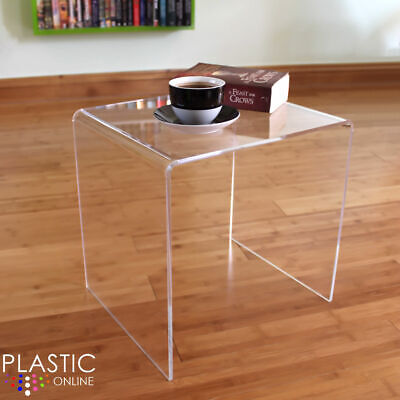 Clear Acrylic Plastic Table, Bedside Table, Coffee Table, End Table, Side Table