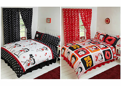Official 2016/17 Betty Boop Red & Black Double King & Super Duvet Cover Set