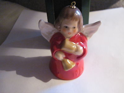1986 Goebel ANGEL BELL ORNAMENT Red with Bells in Box FREE SHIPPING