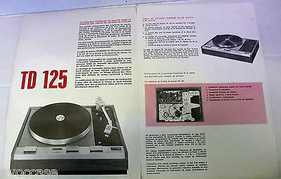 Documentation 2 Pages Thorens Td125