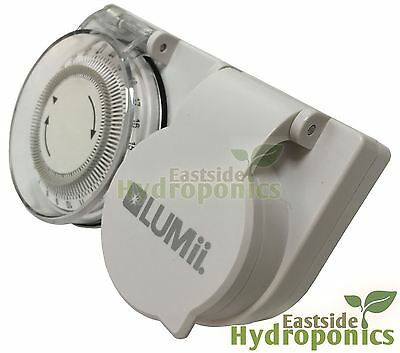 lumii Heavy Duty 1 Way Socket 600w Grow Light Timer Hydroponics