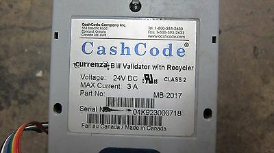 SOLD AS IS FOR PARTS - Cashcode MB-2017