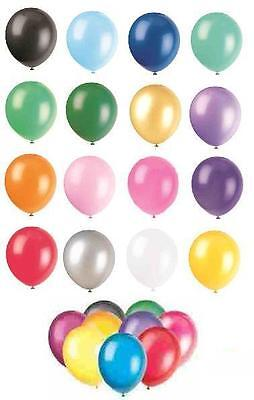 "50 x 12"" Latex Balloons (Party Decorations) LARGE RANGE OF COLOURS"