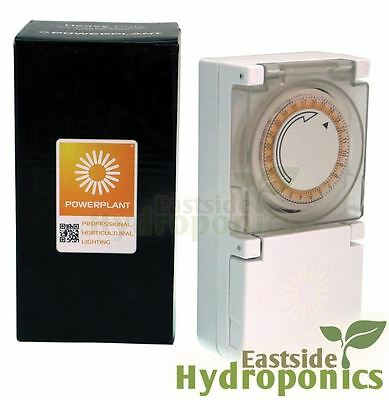 Powerplant Timer 600W For Grow Light Heavy Duty 24 Hour 15 Minute Hydroponics