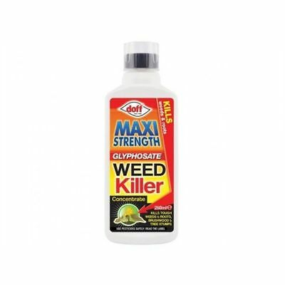 New Doff Maxi Strength Glyphosate Weed Killer 250ml Garden Weed Control