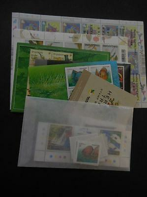 SINGAPORE : 2002 Year set Complete including Souvenir Sheets & Booklets. VF MNH.
