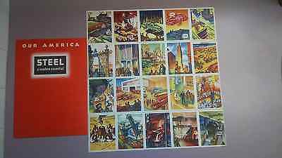 COCA-COLA booklet! 1942-Steel Industry with original stamps- never used!