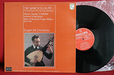 BACH WEISS KELLNER Music for baroque Lute DOMBOIS; LP Philips