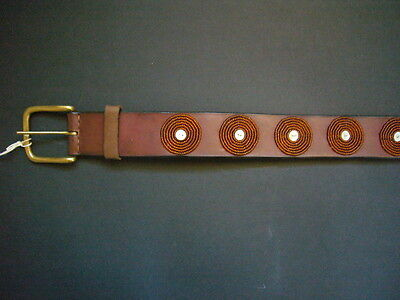 African Ethnic Masai Maasai Bead Leather Belt Ladies Mens Unisex Handmade 34-37""