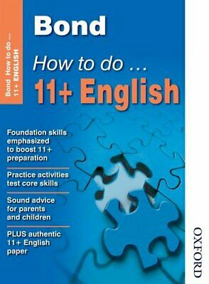 Bond How To Do 11+ English by Heesom, Elisabeth Pamphlet Book The Cheap Fast