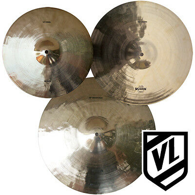 """Wuhan Cymbal Set - 14"""" 16"""" 18"""" - 3 Cymbals, Crashes and Ride - NEW"""
