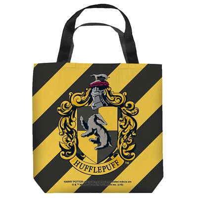Harry Potter Hufflepuff Crest Officially Licensed Tote Bag 2 Sided Print