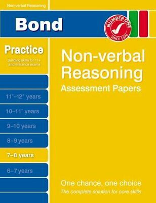 Bond Non-verbal Reasoning Assessment Papers 7-8 years (Bond A..., Baines, Andrew