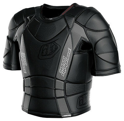 New Troy Lee Designs 7850 Ultra Protective Shirt Motocross Mx Black All Sizes