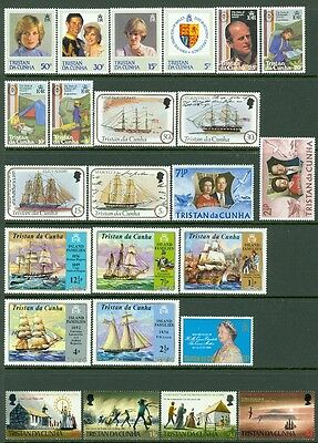 TRISTAN : Group of all Very Fine, Mint Never Hinged Complete sets.