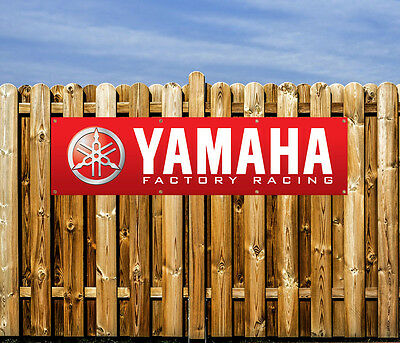 Yamaha Motorcycle - Pvc Banner - Workshop, Garages & Bedroom