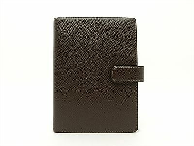 Louis Vuitton Authentic TAIGA Leather Grizzli Agenda fonctionnel MM Diary cover