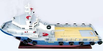 Offshore Support Vessel Handmade Wooden Cargo Ship Model 27""