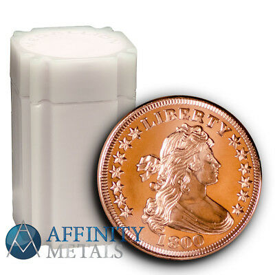20 Coins-  Draped Bust 1 oz .999 Copper Bullion Rounds