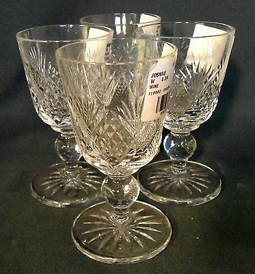 Josair crystal NAUTILUS Wine Goblet Stems  SOLD AS A SET OF FOUR