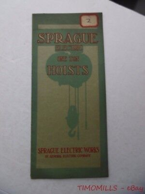 1912 Electrical Hoists Catalog Sprague Works of Electric Electric Co Antique VG