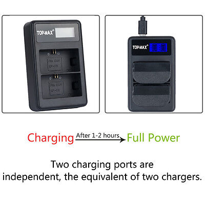 Dual Battery Charger For CANON LP-E6 EOS 6D 5D MARK 2 II 3 III 7D EOS 60D