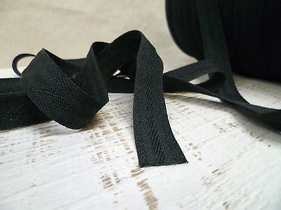 Upholstery Webbing - Poly Edging/Reinforcing Tape - 20mm Black - 5 Metres